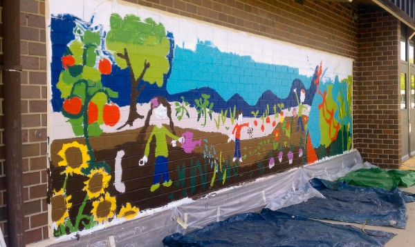 WIP: Kate Mitchell Mural!