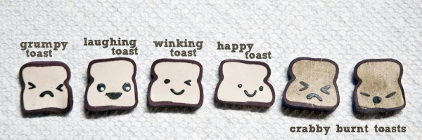 Tutorial: Polymer Clay Kawaii Toast