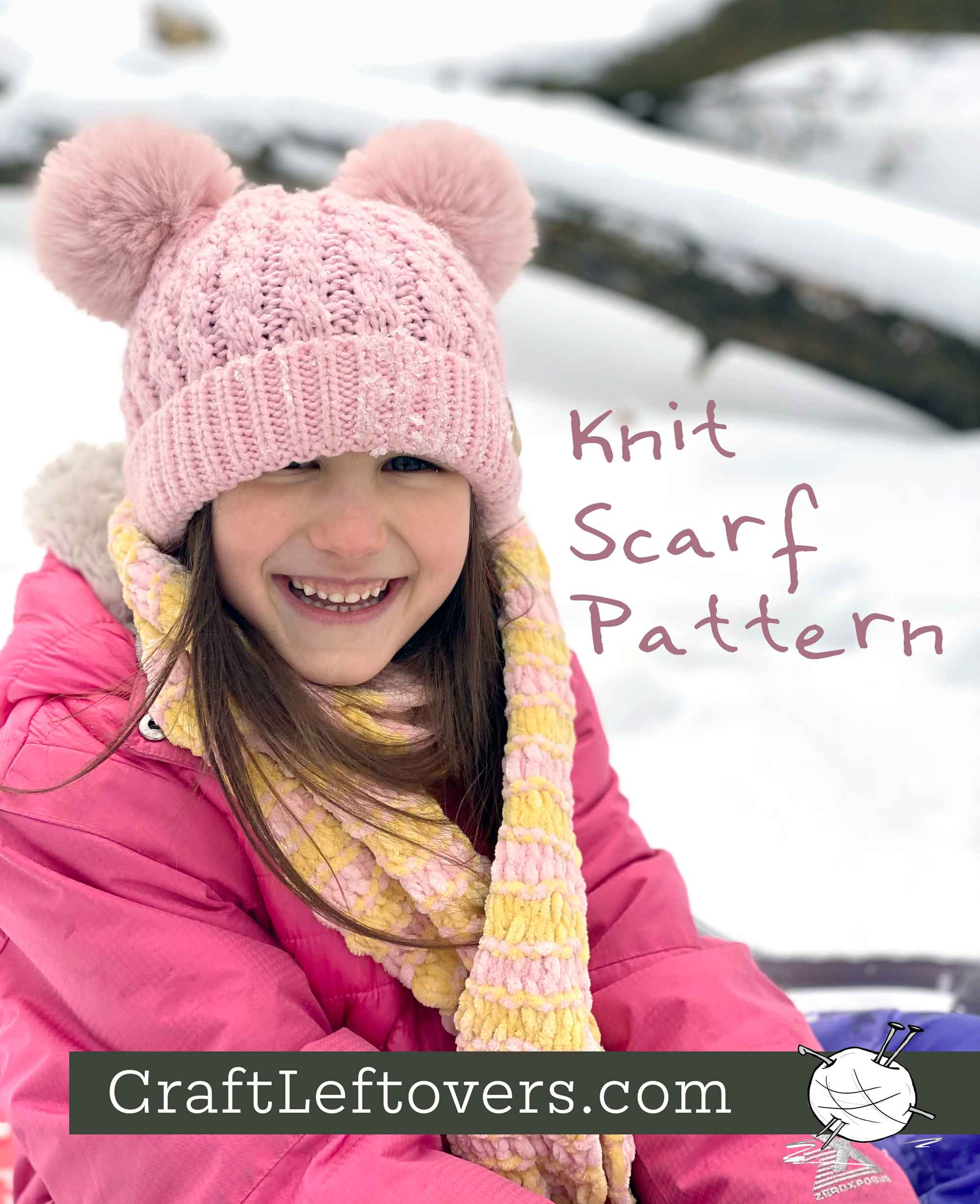 Free Beginner Knitting Pattern: Lucy's Pinktastic Scarf
