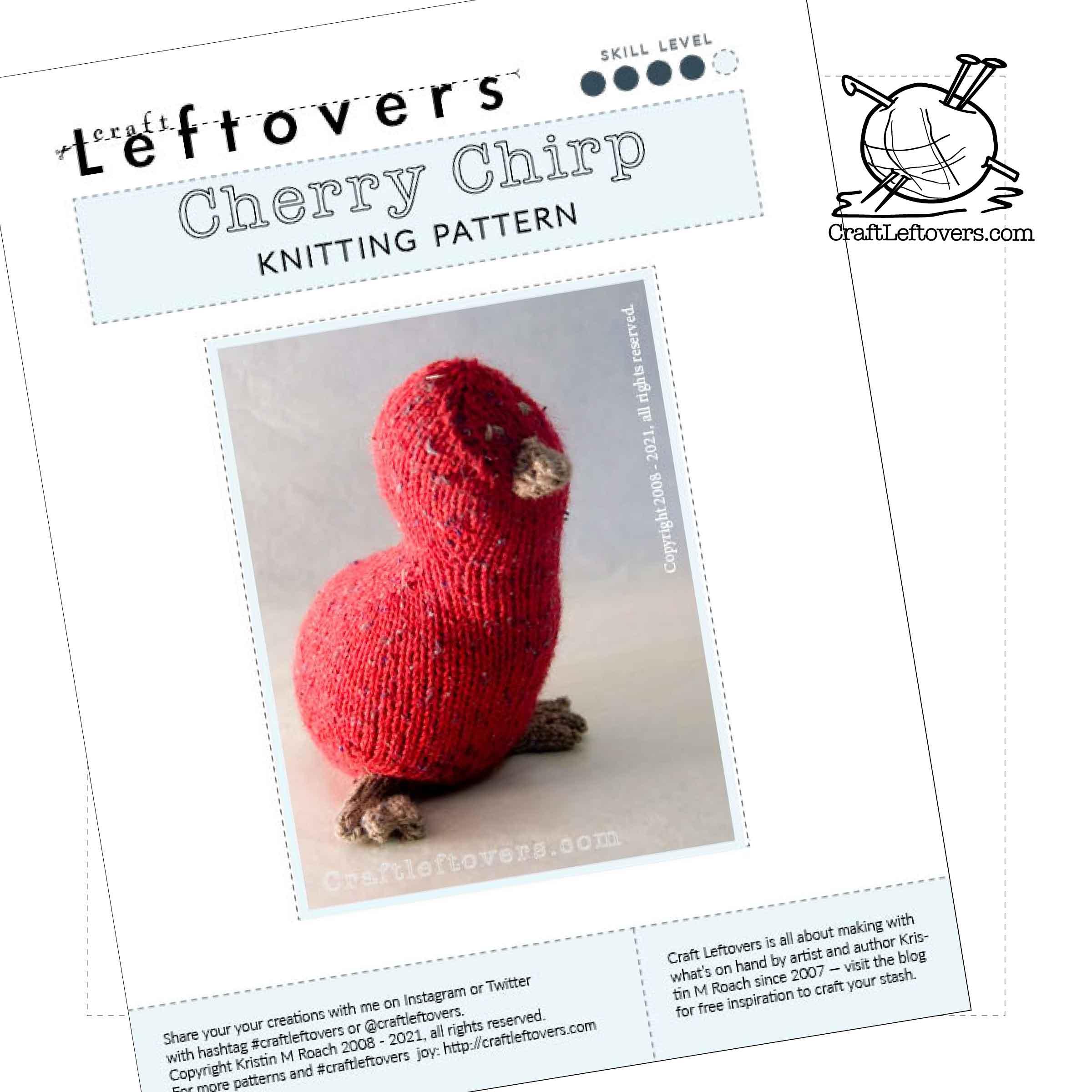 Free Knitting Pattern: Cherry Chirp!